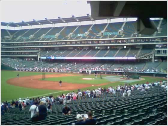 Jacobs Field batting practice